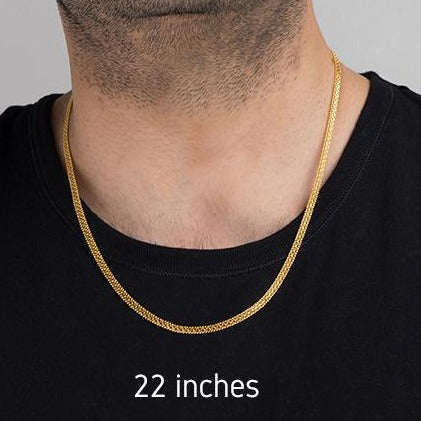 22ct Gold Unisex Flat Chain with lobster clasp C-4746
