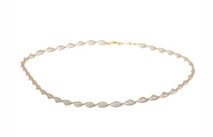 22ct Gold Two Tone Diamond Cut Twisted Chain (15.8g) (C-5286)