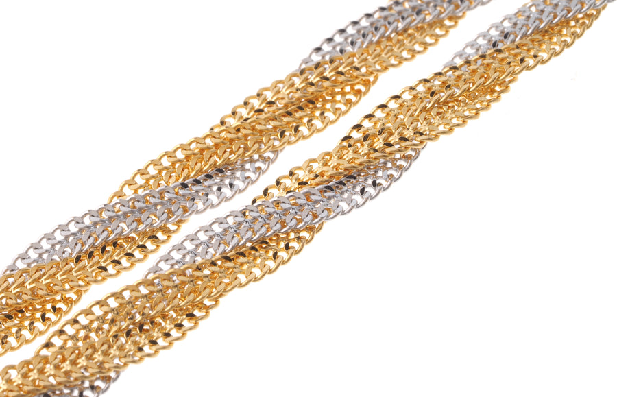22ct Gold Fancy Two Tone Ribbon Chain (C-5288)