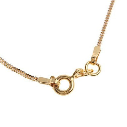 22 Carat Gold Rhodium Foxtail Chain with a ring clasp (C-5779)