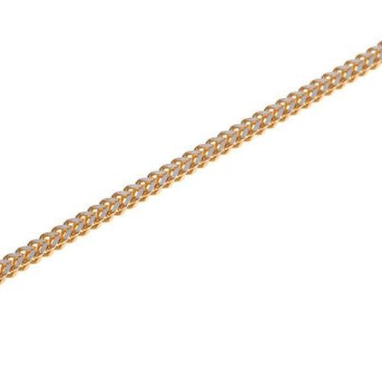 22 Carat Gold Rhodium Foxtail Chain with a ring clasp C-5779