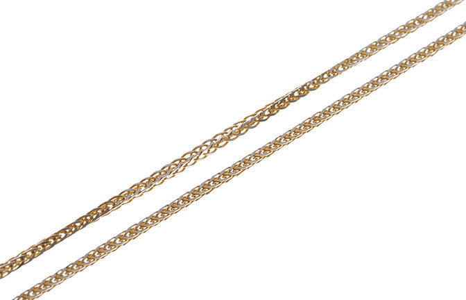 18ct Gold Two Tone Chain (8.2g) (C-5865)