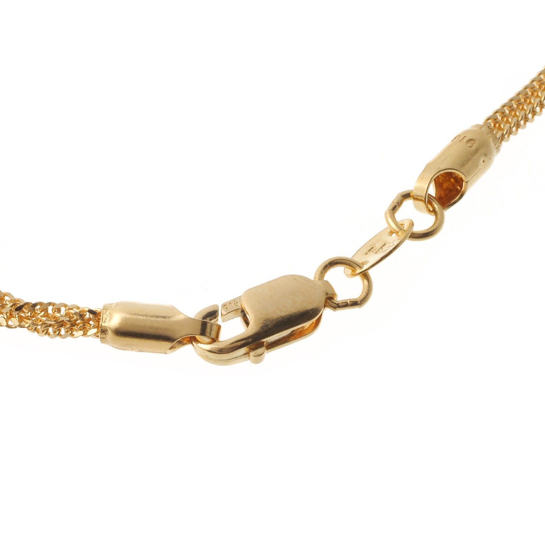 22ct Gold Chain with Twisted Design C-6222