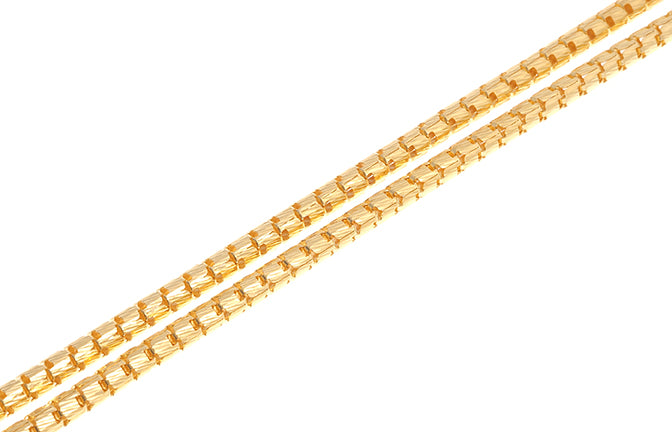 22ct Gold Unisex Snake Chain with Lobster Clasp (19g) (C-6250)