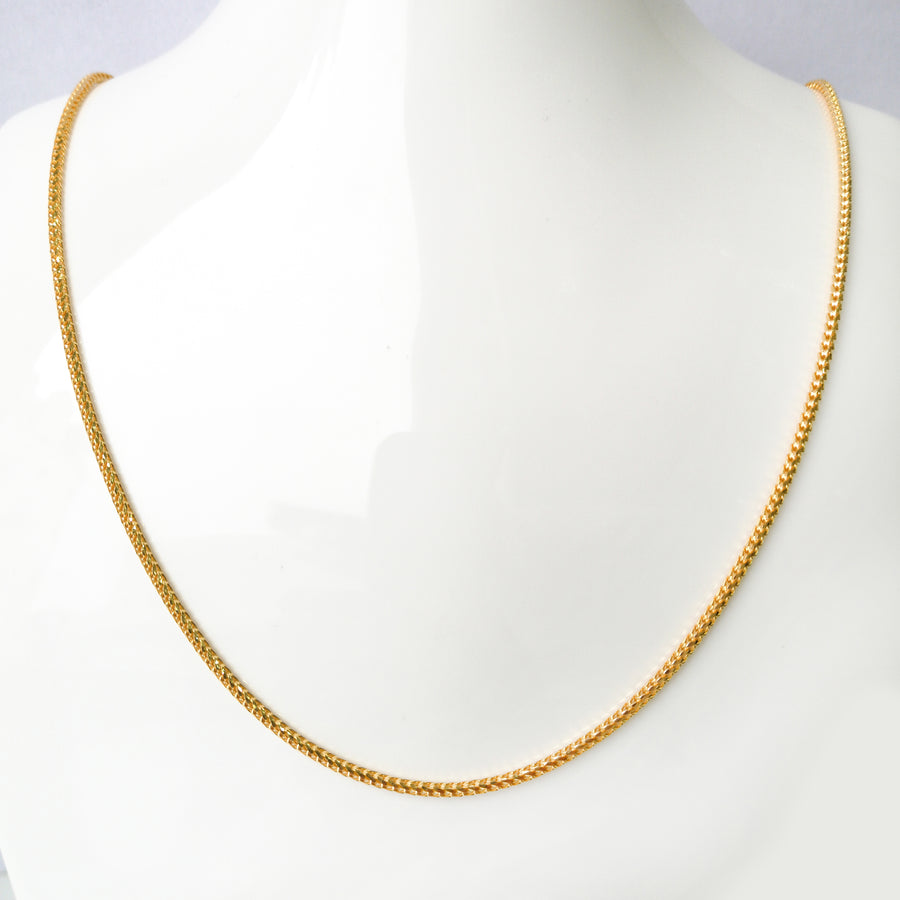 22ct Gold Box Spiga Chain with lobster clasp C-7560