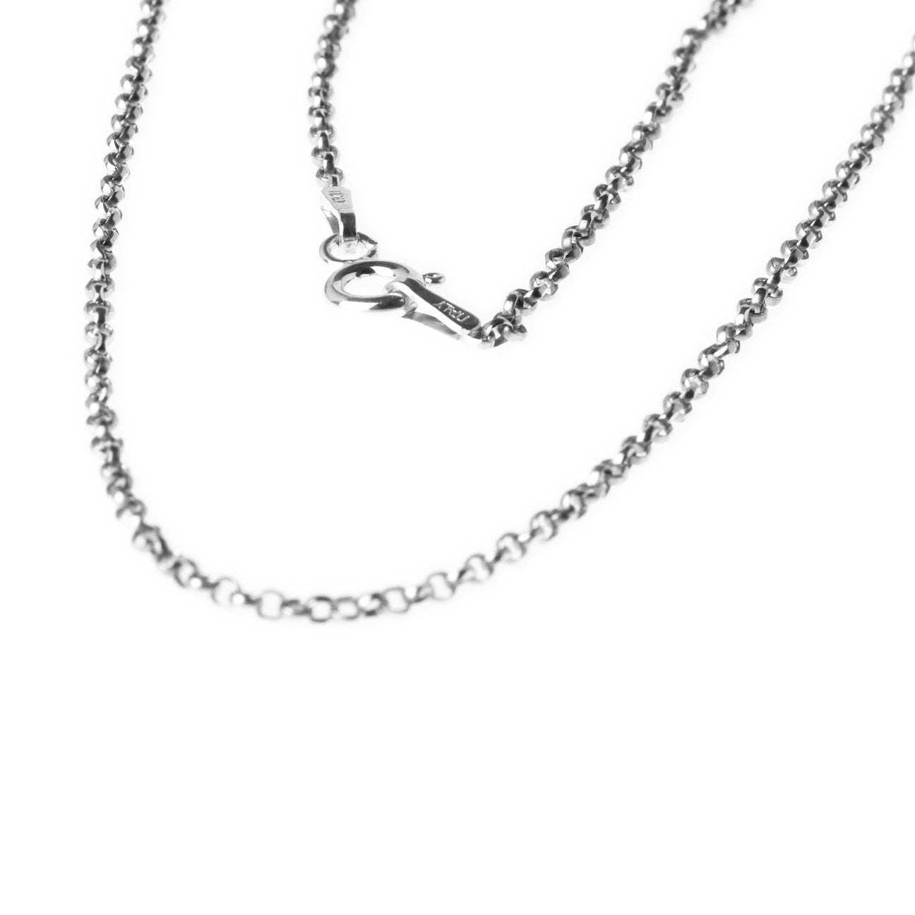 Sterling Silver Belcher Chain with Ring Clasp C-7942