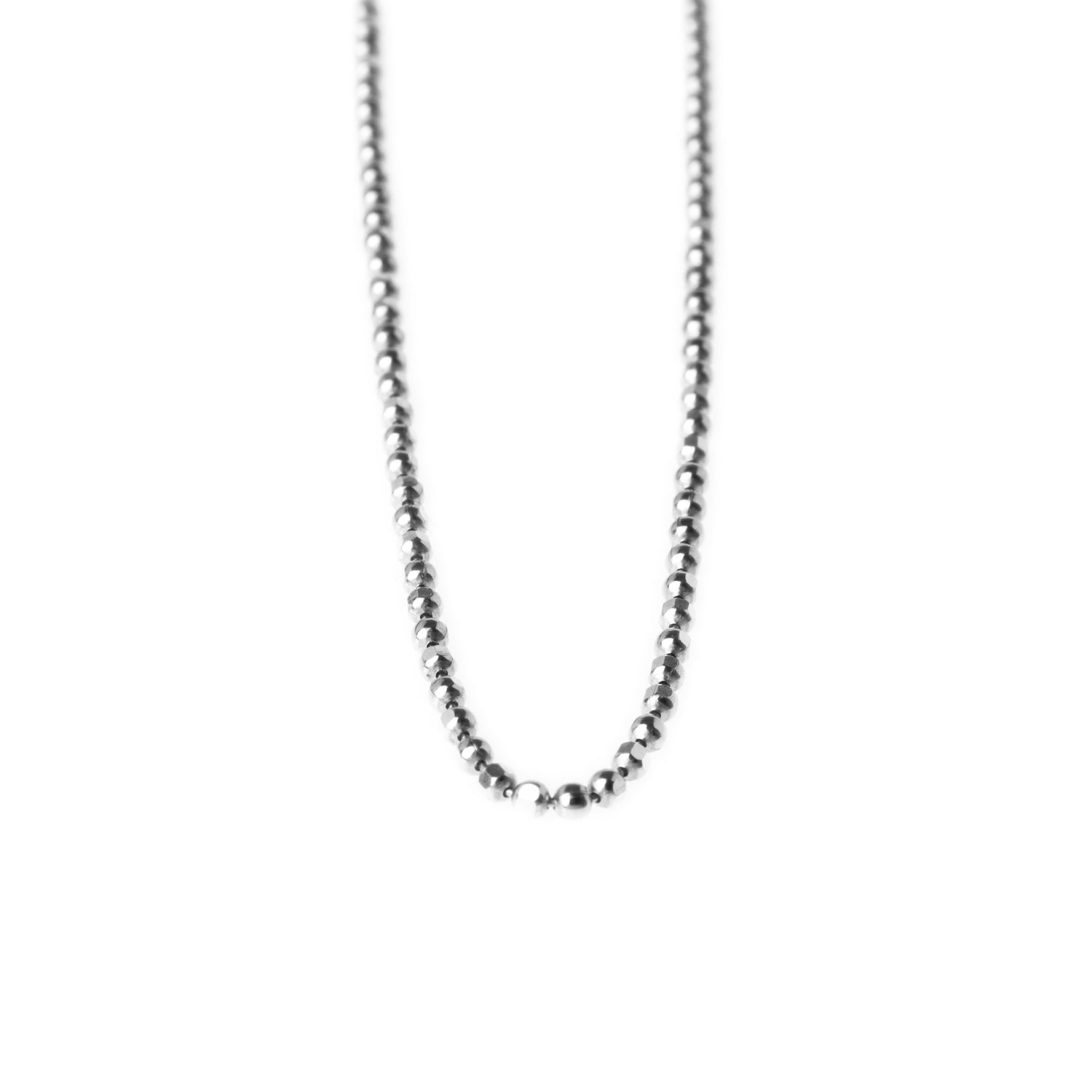 Sterling Silver Beaded Chain with Ring Clasp C-7943
