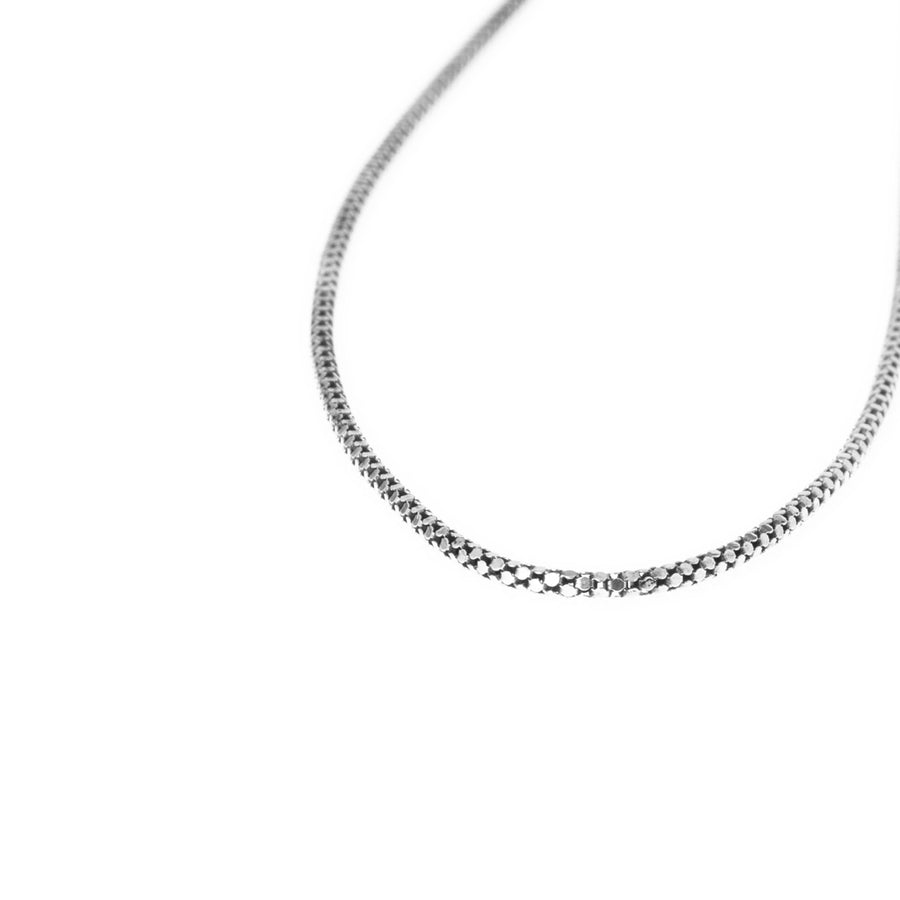 Sterling Silver Box Chain with Ring Clasp C-7945