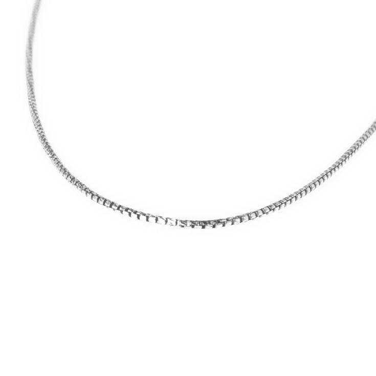 Sterling Silver Box Chain with Ring Clasp C-7946