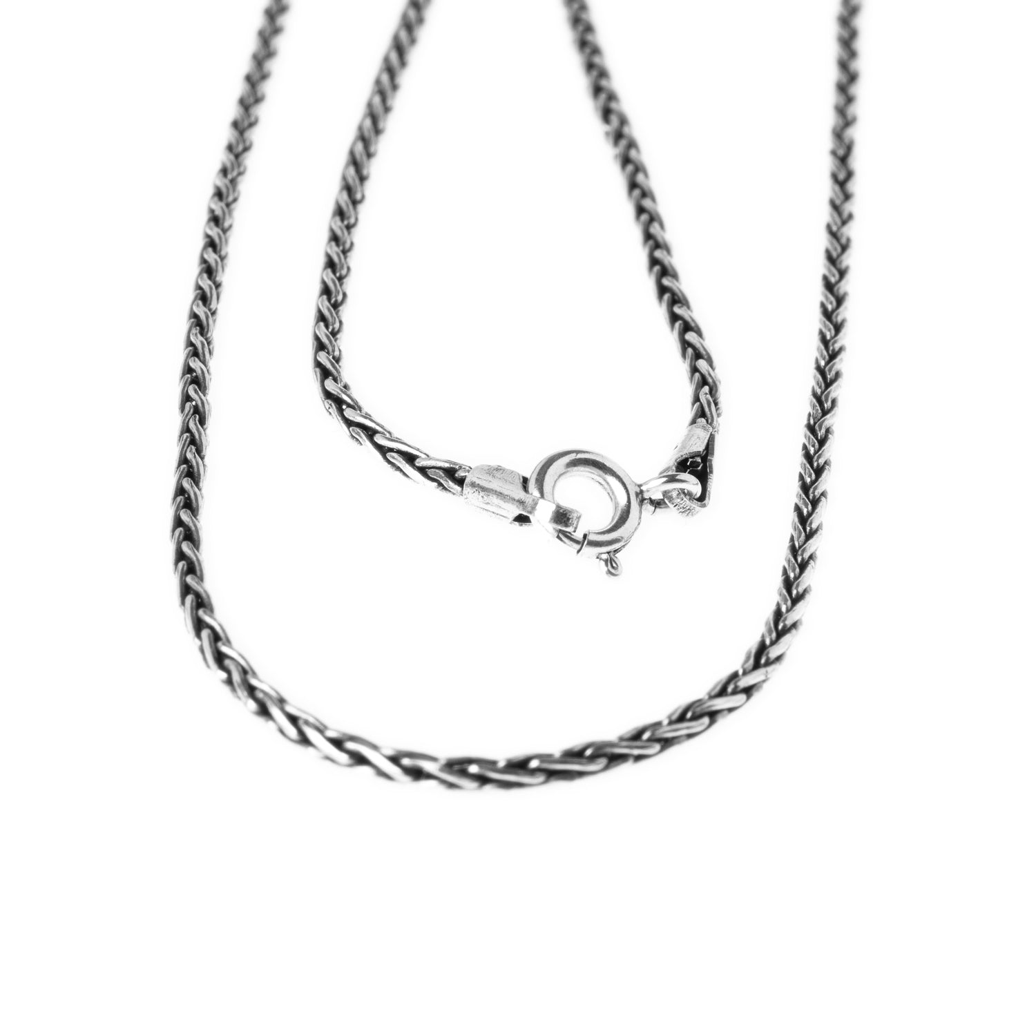Sterling Silver Spiga Chain with Ring Clasp C-794718