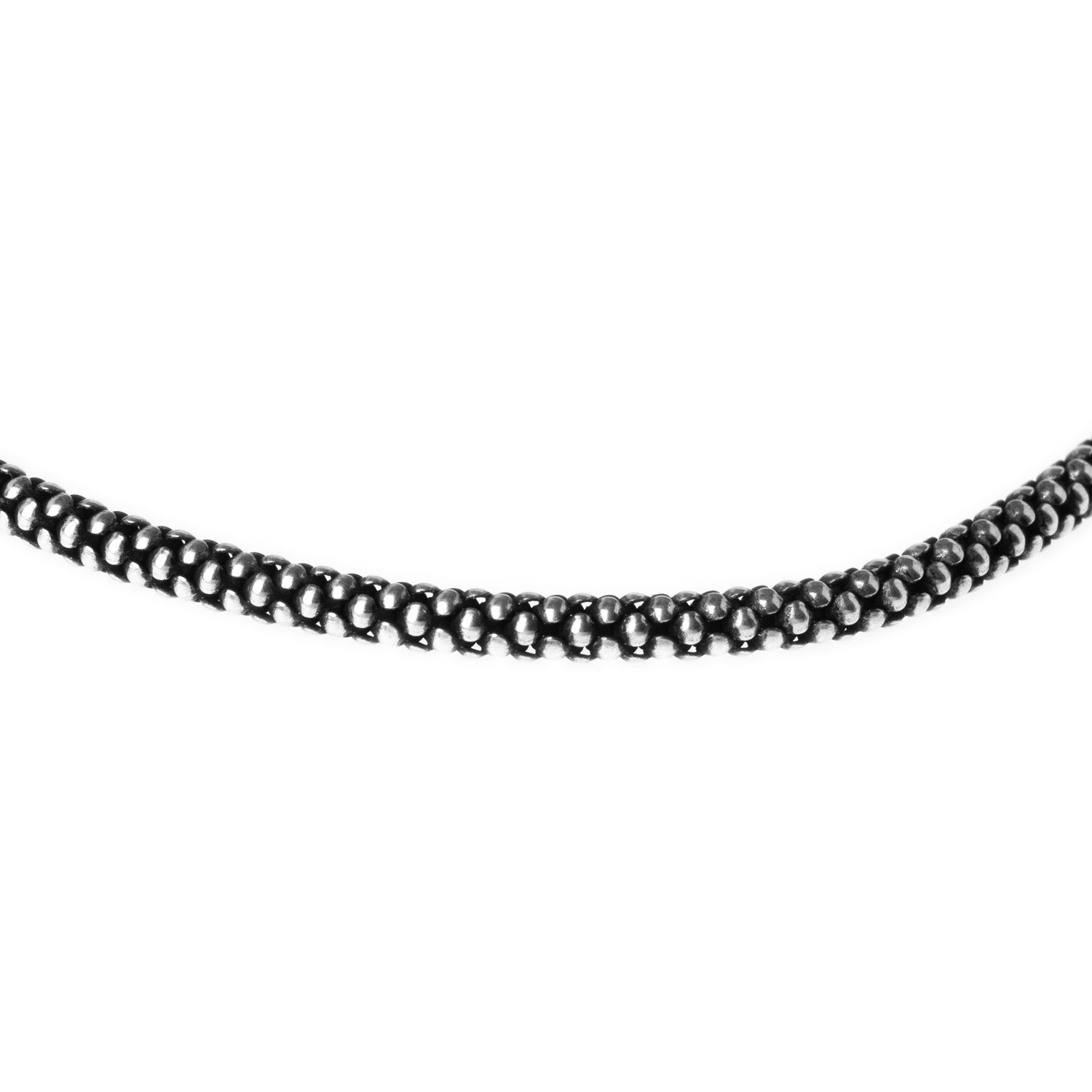 Sterling Silver Popcorn Chain with Ring Clasp C-7948