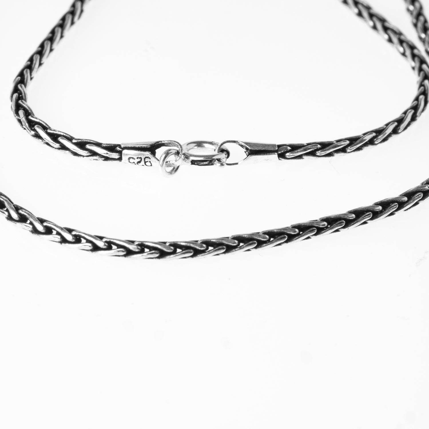 Sterling Silver Spiga Chain with Ring Clasp C-7949