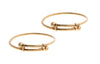 2 x 22ct Yellow Gold Children's Bangles (CB-5703) (online price only)