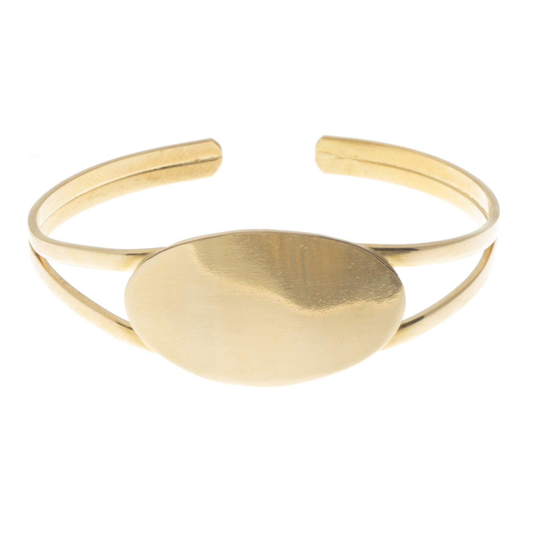 22ct Gold Openable Children's ID Style Bangle (10.4g) CB-7329