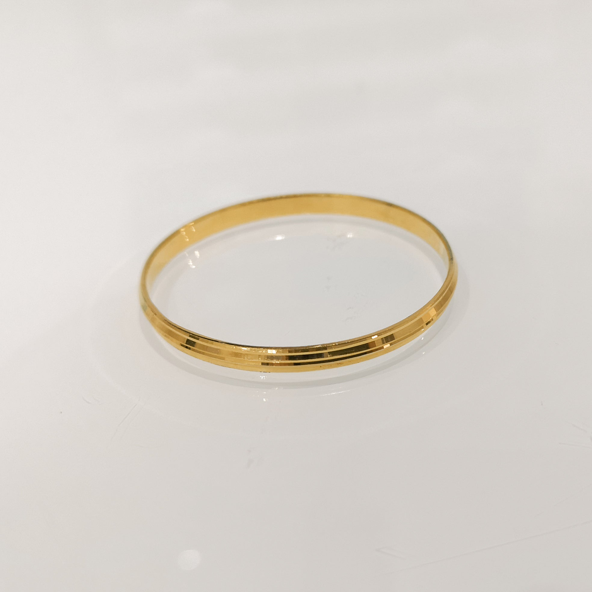 22ct Gold Children's Kada Style Bangle CB-7330