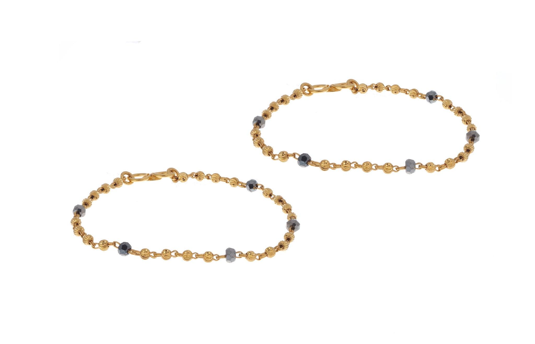 2 x 22ct Yellow Gold Children's Bracelets (G6044), Minar Jewellers