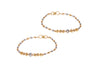 2 x 22ct Yellow Gold Children's Bracelets with Rhodium Design (CBR-6055) (online price only)