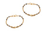 2 x 22ct Gold & Black Bead Children's Bracelets (CBR-6177) (online price only)