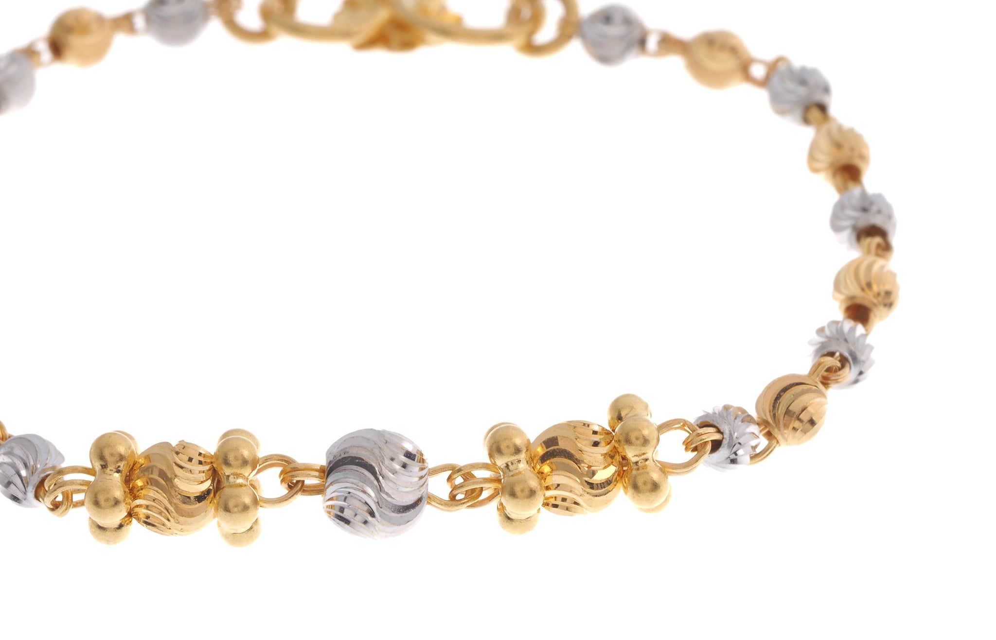 22ct Gold Children's Bracelets with Rhodium Design (CBR-6609)