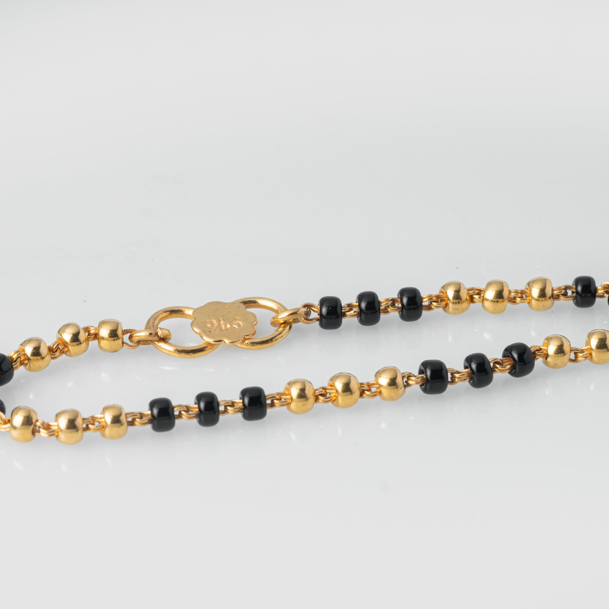 22ct Gold Children's Bracelets with Black Beads CBR-7964