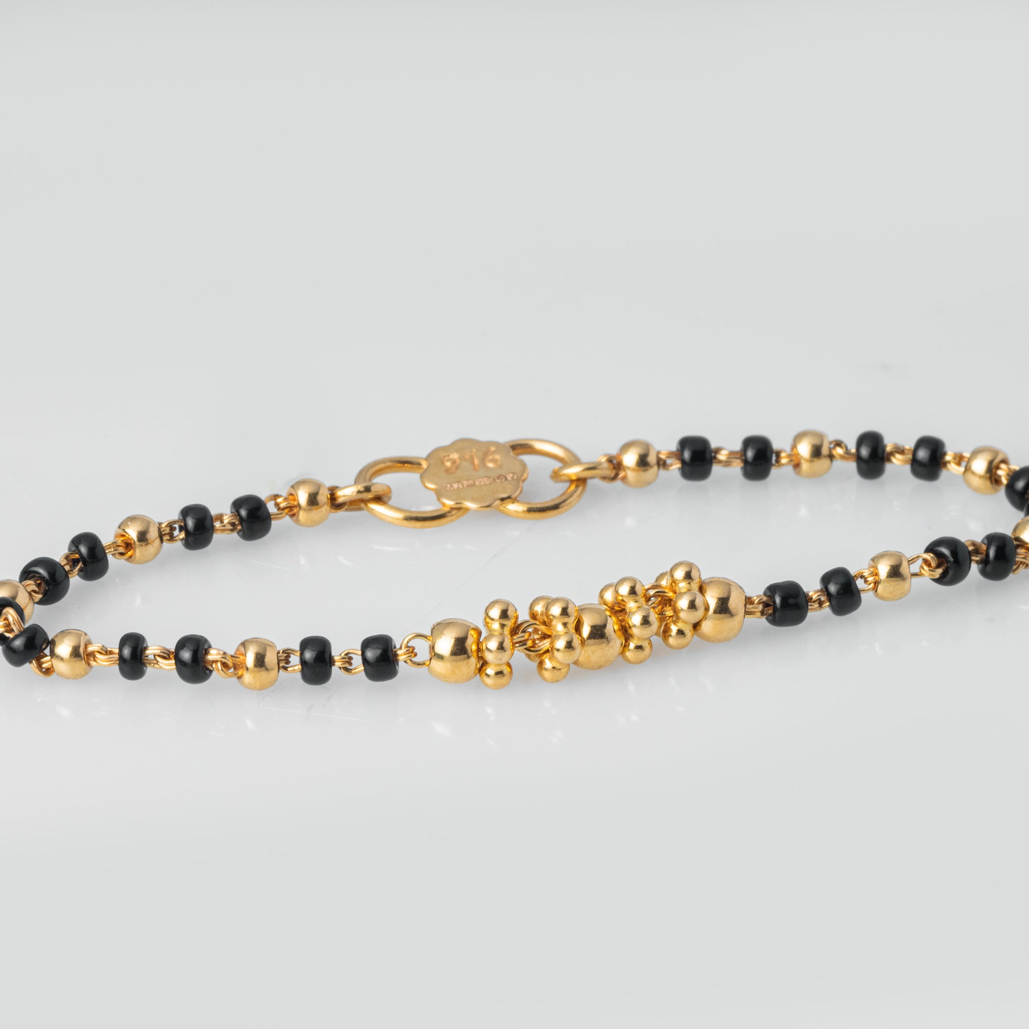 22ct Gold Children's Bracelets with Black Beads CBR-7972