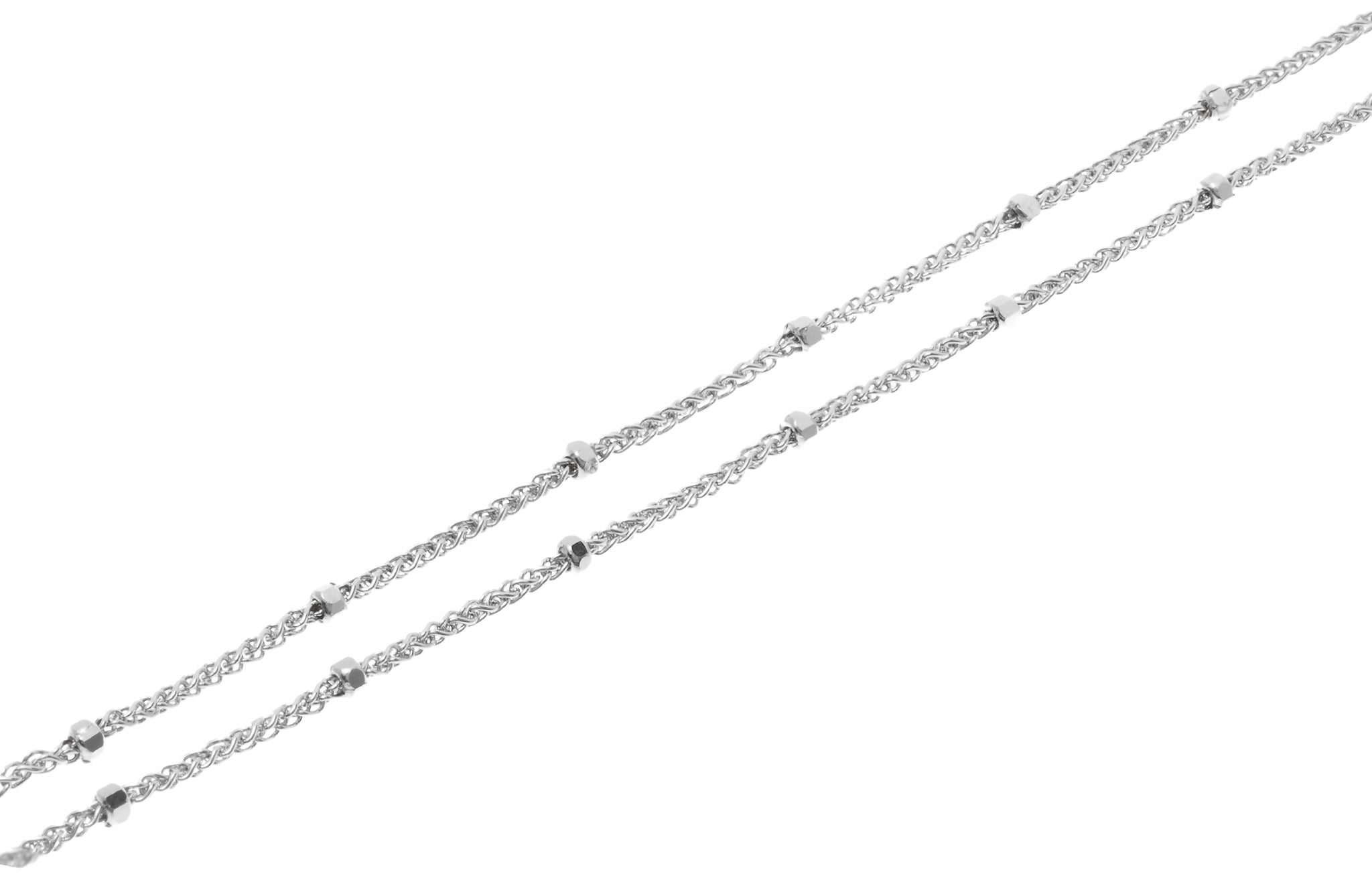 18ct White Gold Chain with Ring Clasp (3.02g) CH-10633