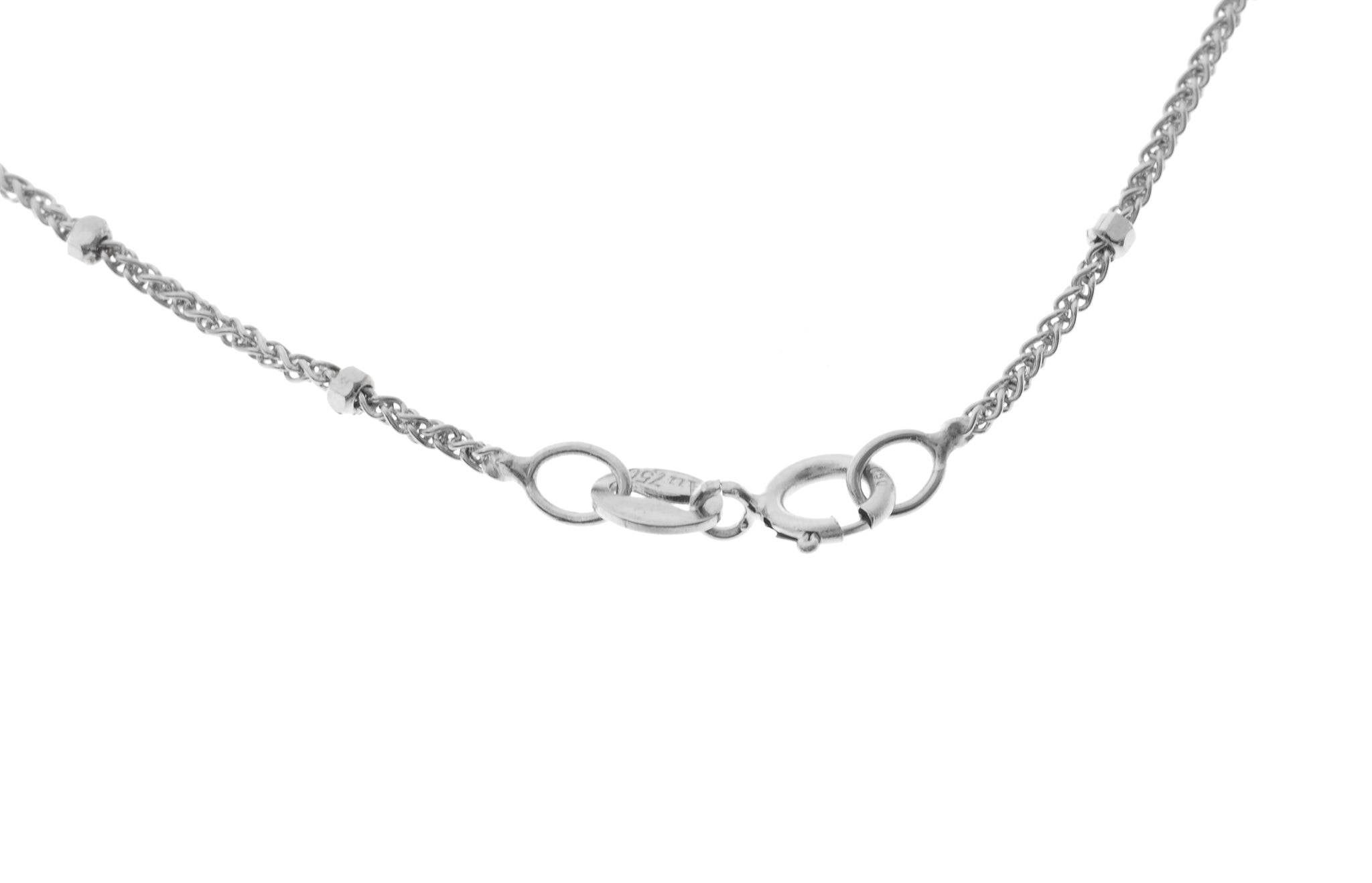 18ct White Gold Chain with Ring Clasp (3.02g) (CH-10633)