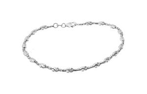 18ct White Gold Diamond Cut Bracelet (3.8g) (CH-10884)