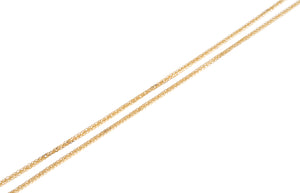 18ct Yellow Gold Adjustable Chain with Star Charm and Ring Clasp (2.56g) CH-110990