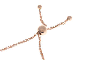 Adjustable 18ct Rose / White / Yellow Gold and Rhodium Bracelet with Rhodium Design and Beads (CH-11218)