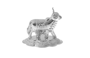 Silver Plated White Metal Cow Idol (COW2)