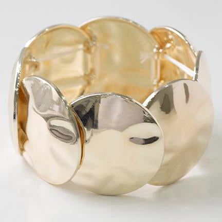 Gold Plated Disc Fashion Bangle 1127g
