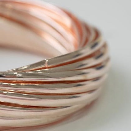 Rose Gold Plated set of fashion bangles 1251a