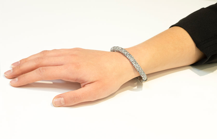 Silver Crystal Magnetic Fashion Bracelet 1396B