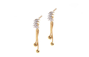 22ct Yellow Gold Earrings set with Cubic Zirconia stones (4.73g) (DET15003)