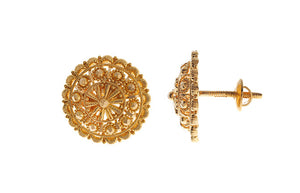 22ct Yellow Gold Stud Earrings (6.3g) (E-3278)