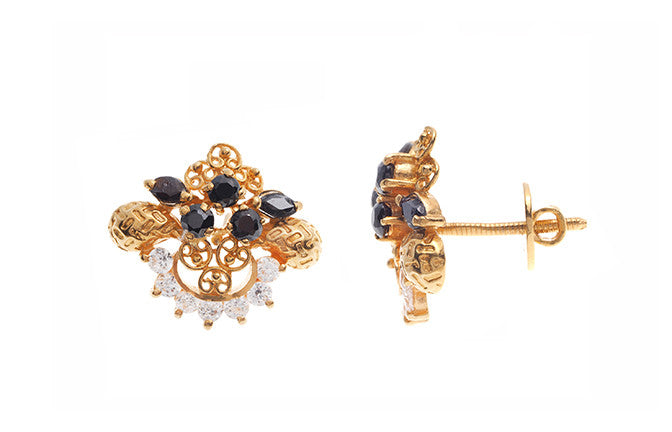 22ct Gold and Cubic Zirconia Stud Earrings (6.5g) E-3309