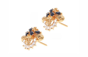 22ct Yellow Gold & Cubic Zirconia Stud Earrings (6.5g) (E-3309)