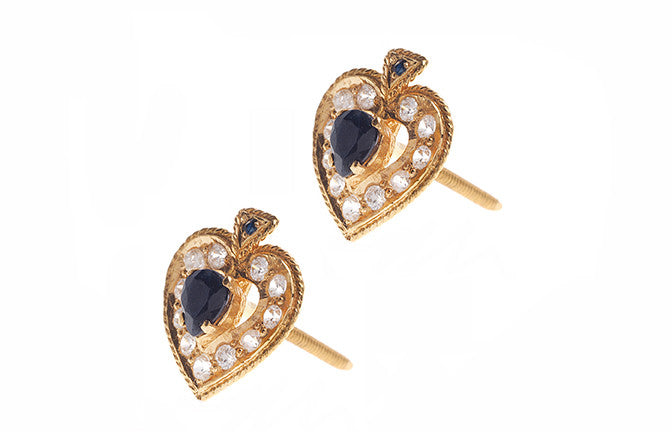 22ct Yellow Gold & Cubic Zirconia Stud Earrings (4.6g) (E-3310)