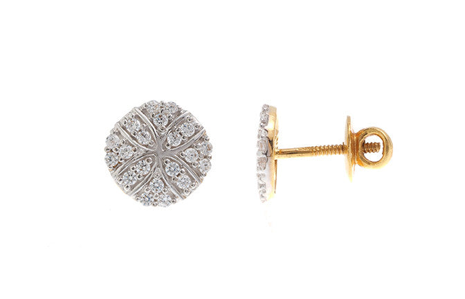 22ct Yellow Gold Earrings set with Cubic Zirconia stones (3.18g) (ET15172)