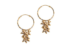 22ct Yellow Gold Hoop & Drop Earrings (4.2g) (E-3894)