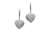 18ct White Gold Cubic Zirconia Heart Shaped Drop Earrings (E-4662)