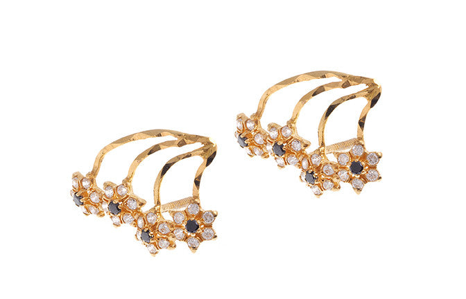 22ct Gold Cubic Zirconia Earrings (E-4663) (online price only)