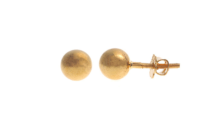22ct Gold Plain Ear Studs (1.7g) E-4903