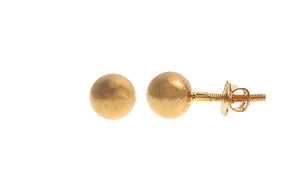 22ct Gold Plain Ear Studs (1.8g) (E-4903)