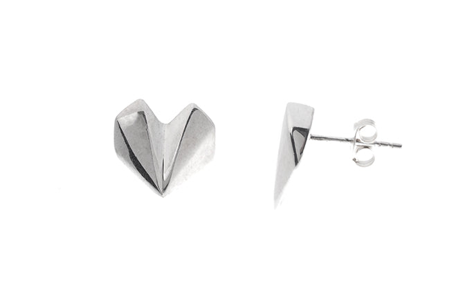 Sterling Silver Heart Earrings E-5026 (online price only)