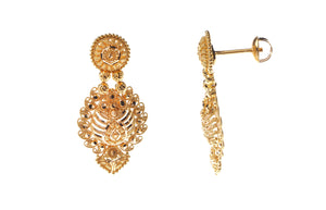 22ct Gold Drop Earrings (13.6g) (E-5936)