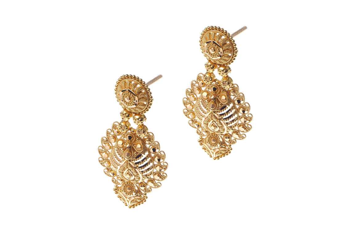 22ct Gold Drop Earrings (E-5936) (online price only)