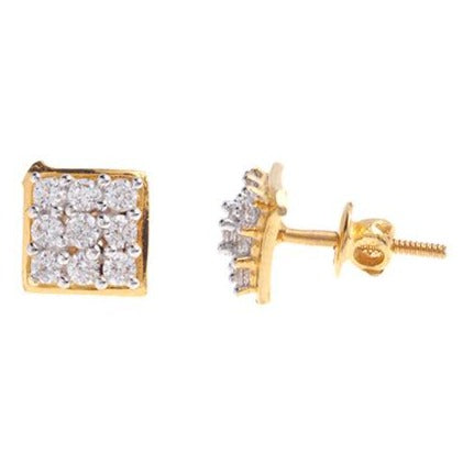 22ct Gold Cubic Zirconia Stud Earrings (3.5g) E-6025