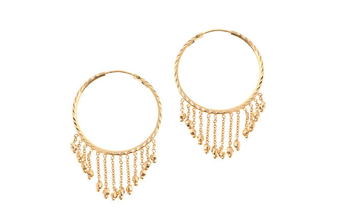 22ct Yellow Gold Drop & Hoop Earrings (7.8g) E-6035